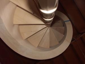 Un escalier escargot