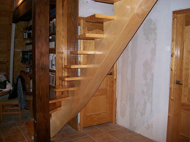 escalier limon central bois