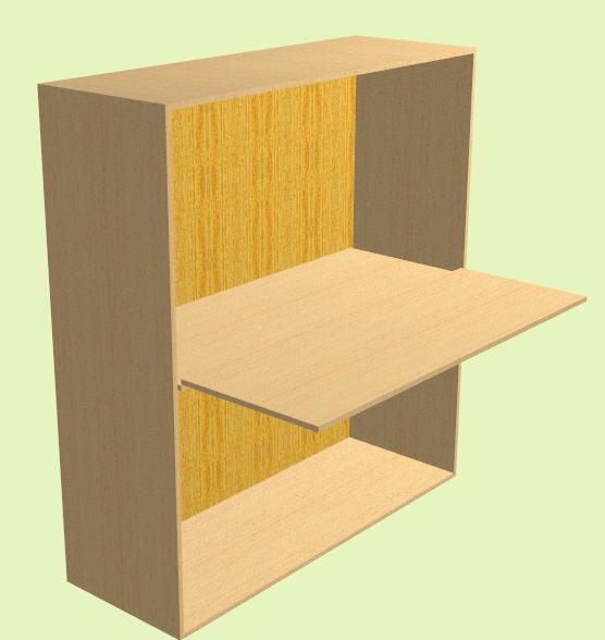 fabriquer un meuble avec une tag re coulissante atelier. Black Bedroom Furniture Sets. Home Design Ideas