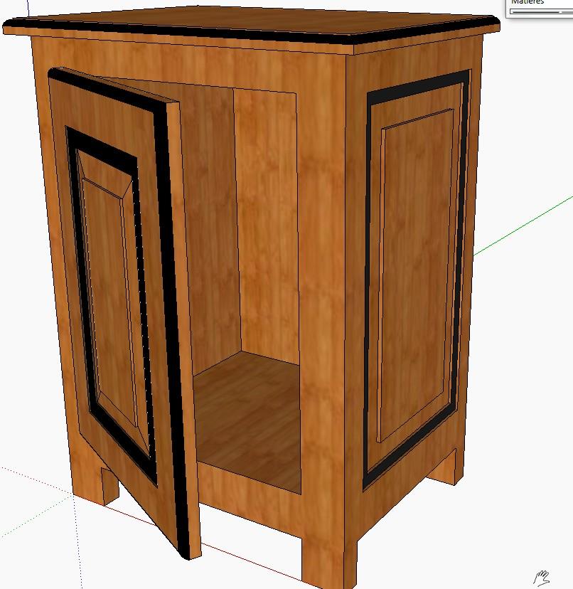 utiliser sketchup pour ajouter des d tails aux meubles polyboard. Black Bedroom Furniture Sets. Home Design Ideas