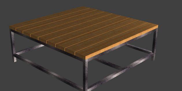 Fabriquer une table en métal et bois