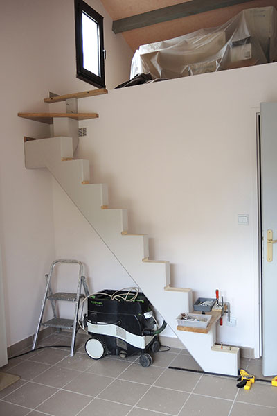 construire un escalier quart tournant haut avec un logiciel gratuit atelier bois. Black Bedroom Furniture Sets. Home Design Ideas