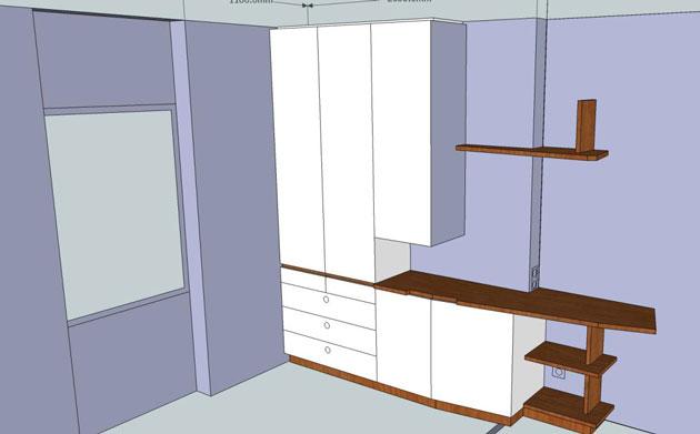 logiciel de menuiserie 3d exemple de projet. Black Bedroom Furniture Sets. Home Design Ideas