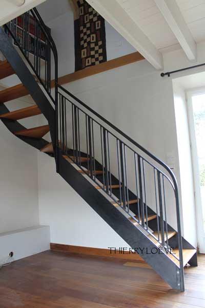 Escalier m tal bois avec stairdesigner et notre service stairfile atelier bois - Escalier metal et bois ...
