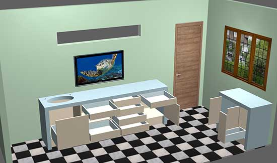 Polyboard cabinets dentaires