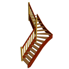 Quarter Turn Open Plan Stair (no risers)