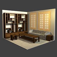 Polyboard living room model
