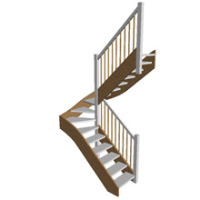 Half Turn Open Plan Stair (no risers)
