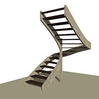 Half Turn String on String stair