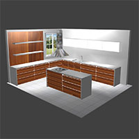 Polyboard handleless kitchen
