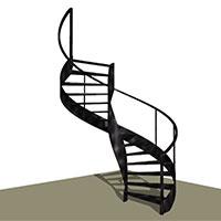 Metal Helicoidal stair