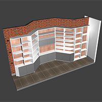 Polyboard angled walls model