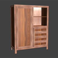 Polyboard face frame cupboard model