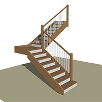 Quarter Turn stair with Landing