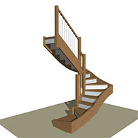 Three Quarter Turn stair with Winders
