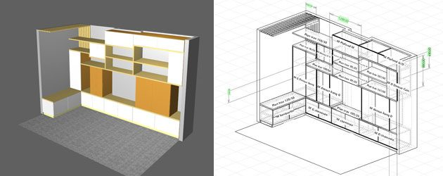 logiciel de fabrication de meubles logiciel d. Black Bedroom Furniture Sets. Home Design Ideas