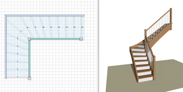 logiciel calcul escalier atelier bois. Black Bedroom Furniture Sets. Home Design Ideas