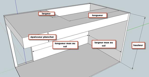 Mesures de Base cage d'escalier