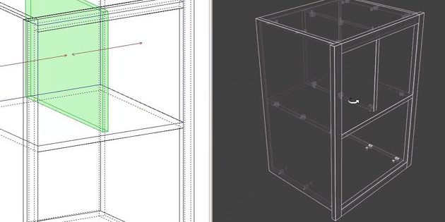 cadre massifs dans polyboard