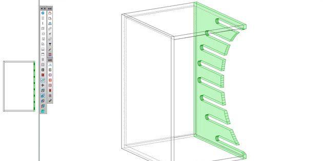 Concevoir un casier à vin avec une forme d'usinage