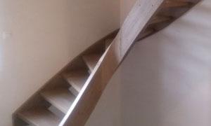 Escalier courbe in situ