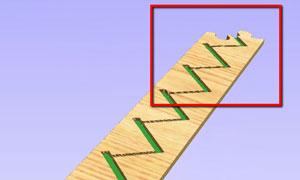 Image numérique de l'assemblage en puzzle