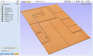 pièces de meuble dans le logiciel fao