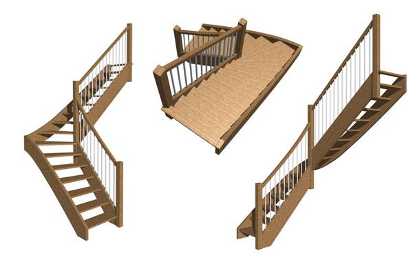 modèle 3d stairdesigner