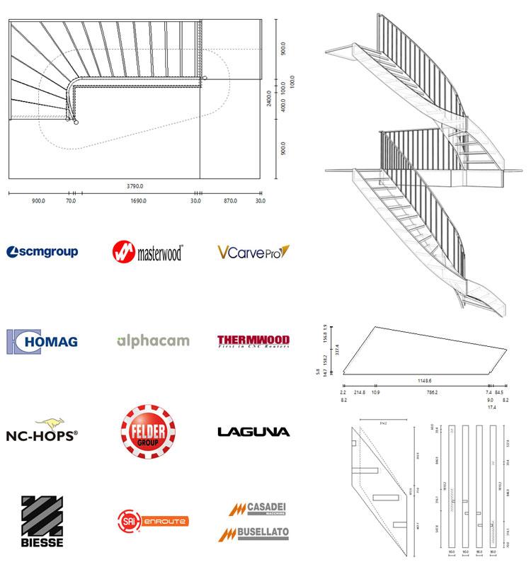 fichiers de fabrication dans stairdesigner