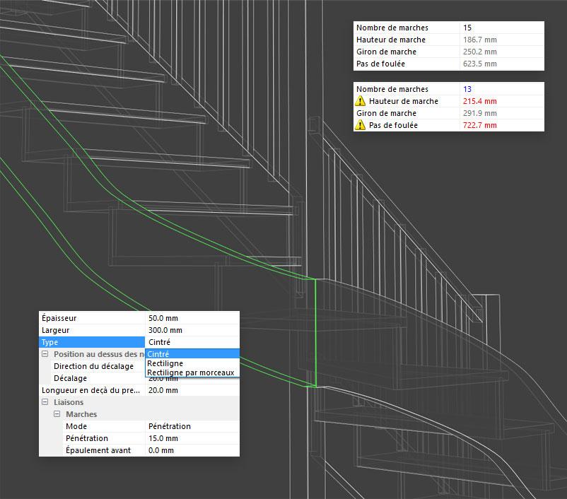 optimisation dans stairdesigner