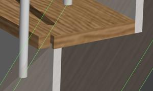 Entaillage des nez et arrières des marches dans stairdesigner