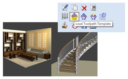 intégration vcarve et polyboard stairdesigner