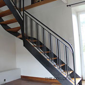wood and metal stair project